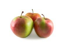 在空白背景的苹果 免版税库存照片