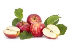 在空白背景的苹果 免版税图库摄影