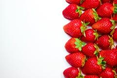 在空白背景的草莓 免版税库存图片