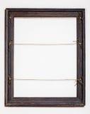 在空白背景的葡萄酒老画框 免版税库存照片