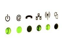在空白背景的通信符号 库存图片