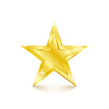 在空白背景的金黄星形 也corel凹道例证向量 皇族释放例证