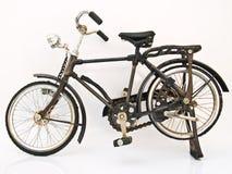 在空白背景的铁自行车设计 库存照片