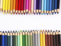 在空白背景的颜色铅笔 免版税库存照片