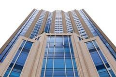 在空白背景的高大厦 免版税库存图片