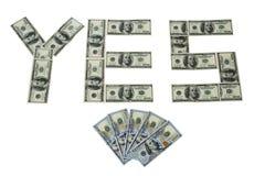 在空白背景的货币 免版税库存照片