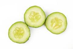 在空白背景的黄瓜 库存图片