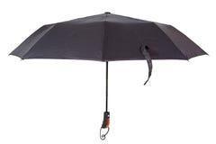 在空白背景的黑色伞 免版税库存照片