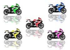 在空白背景的Motorbikie 免版税库存照片