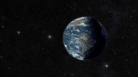在空间的地球 库存例证