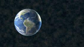 在空间的打旋的世界 股票录像