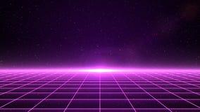 在空间的水平的矩阵栅格 库存图片