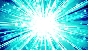 在空间的Starburst光芒 动画片射线圈动画 将来的技术概念背景 与线的爆炸星 库存例证