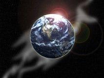 在空间1的地球 库存照片