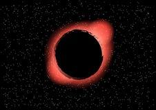 在空间向量例证的黑洞 免版税库存照片