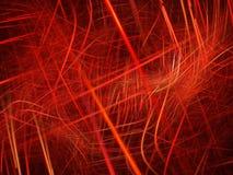 在空间的五颜六色的红色等离子曲线 皇族释放例证