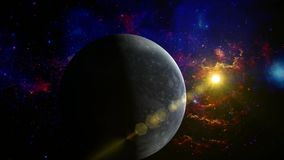 在空间的冥王星行星 影视素材