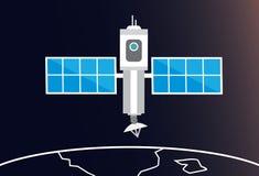 在空间的卫星 免版税库存图片