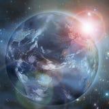 在空间的地球。 免版税库存图片