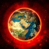 在空间的地球能源 库存图片