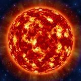 在空间的太阳 库存照片