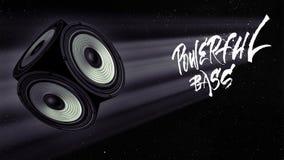 在空间的强有力的低音 向量例证