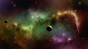 在空间的星云 免版税库存照片