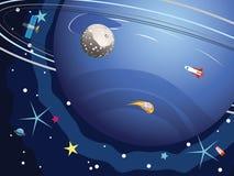 在空间的海王星行星 免版税库存照片