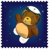 在空间的玩具熊 免版税库存图片