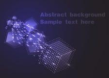 在空间的背景飞行色的立方体 也corel凹道例证向量 库存图片