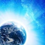 在空间的蓝色地球 图库摄影