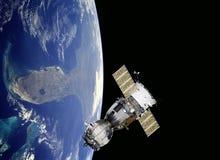 在空间的行星地球。 库存照片