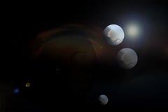 在空间的行星风景 免版税库存图片