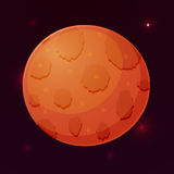 在空间,传染媒介例证的行星火星 免版税图库摄影