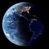 在空间, 3d的地球回报 免版税库存图片