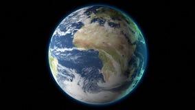在空间3D的地球 股票录像