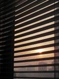 在窗口外面的日出 库存照片