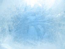 在窗口的冰,背景 免版税图库摄影