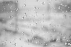 在窗口的熔化雪 免版税库存图片