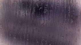 在窗口,格栅,冰的水滴 股票录像