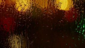 在窗口,格栅,冰,水蒸气的水滴 影视素材