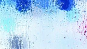 在窗口,格栅,冰,水蒸气的水滴 股票视频