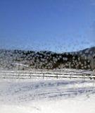 在窗口18的水晶雪花 免版税图库摄影