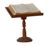 在立场的圣经 库存照片