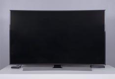 在立场的LED电视 免版税库存图片