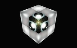 在立方体的球形 库存图片