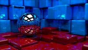 在立方体的球 向量例证