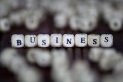 在立方体背景的企业词 库存图片