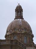 在立法修造的埃德蒙顿,亚伯大的圆顶 免版税库存图片
