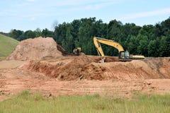 在站点的挖掘机在乔治亚,美国 免版税库存照片